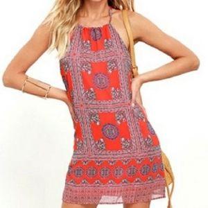 NWT Lulu's Paisley Print Halter Dress